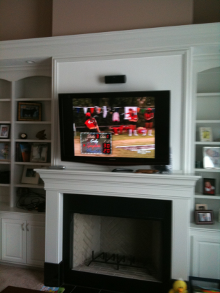 TV Installation Over Fireplace