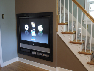 TV Installation Under Stairs